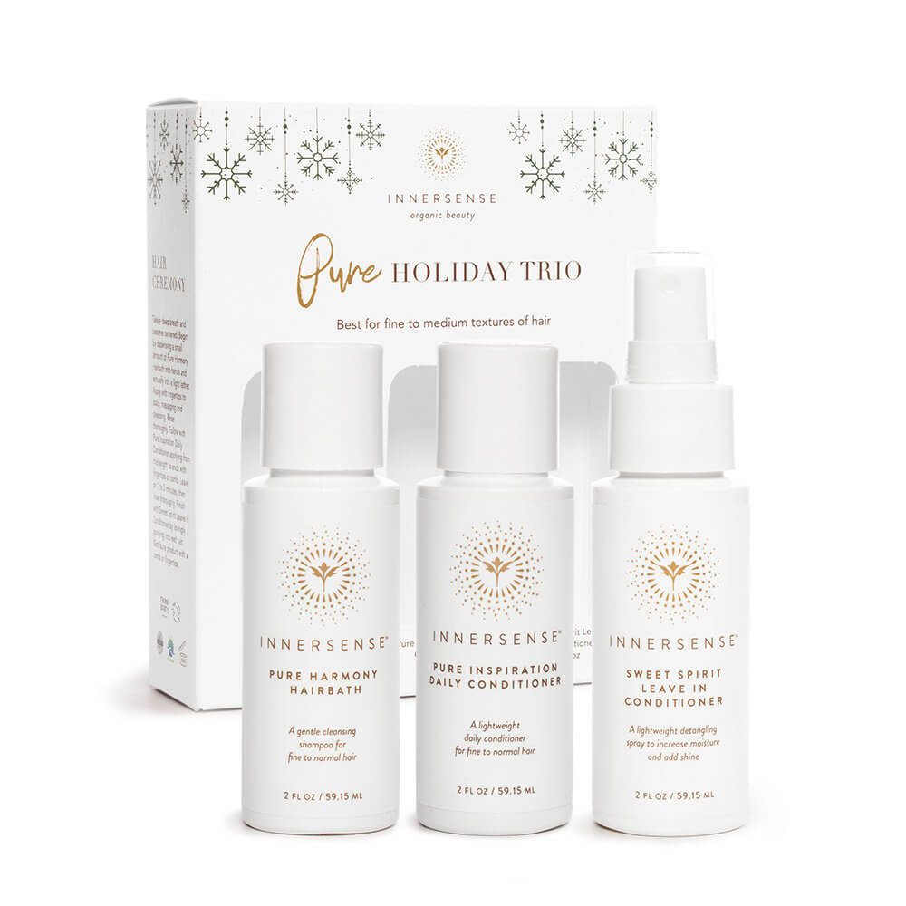 Innersense Organic Beauty Pure Holiday Travel Trio Box